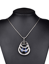 Necklace Pendant Necklaces Jewelry Birthday Party Daily Casual Christmas Gifts Geometric Unique Design Fashion Alloy Glass Women 1pc Gift