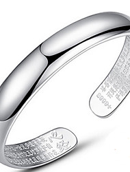 Bracelet Bangles S999 Sterling Silver Alphabet Shape Natural Birthday Gift Jewelry Gift Silver1pc