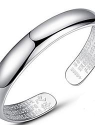 Femme Bracelets Rigides Amour Naturel Style Folk Argent sterling Forme de Lettres Bijoux Pour Anniversaire 1pc