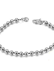 Bracelet Chain Bracelet Sterling Silver Others Natural Birthday Gift Valentine Jewelry Gift Silver,1pc
