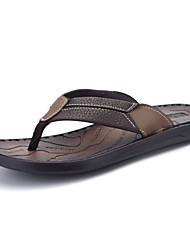 Herren-Slippers & Flip-Flops-Lässig-PU Nylon-Flacher Absatz-Komfort