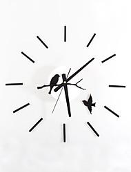 Модерн Ретро Животные Праздник Духовное развитие Семья Мультфильмы Настенные часы,Круглый Новинки Акрил Стекло Металл 55 Применение Часы