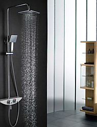 High Quality Wall-Mounted Brass Chrome 38 degrees Celsius Smart Thermostatic Shower Faucet