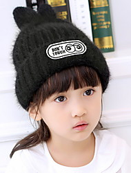 Children 'S Hat Rabbit Ears Wool Caps And Cashmere Winter Knit Cap Head Cap