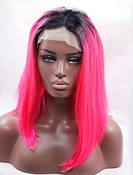rose rouge avant de dentelle perruque avec des racines sombres pour les femmes noires sexy port quotidien ou les cheveux de cosplay partie
