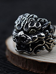 Ring Non Stone Daily Casual Jewelry Sterling Silver Women Men Ring 1pc,One Size Silver