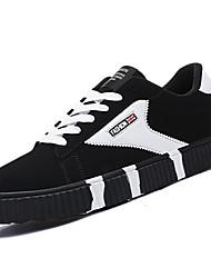 Herren-Sneaker-Lässig-SamtAndere-Weiß Blau Rot-Weiss Schwarz-Weiss
