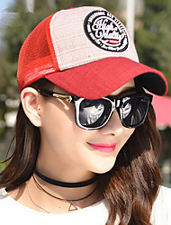 2016 Fashionable Spring And Summer New Round Standard Linen Baseball Cap Leisure Travel Lady Net Cap
