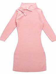 Baby Girl/Girl's Cotton Knitted Cheongsam Dress