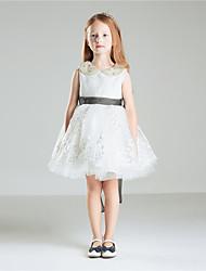 Robe de princesse princesse à genouillère princesse - coton coton sans manches en coton avec perle perlée par lan ting bride®
