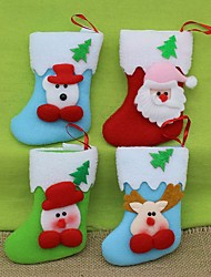 Ornements Cadeaux Non Allumé Vacances Tissu Décoration de Noël