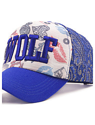 Spring And Summer Women 'S Baseball Cap Fashion Letters WOLF Silver Cap Net Shade Cap