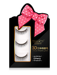 3D Eyelashes lash Full Strip Lashes Eyes Crisscross Natural Long Volumized Handmade Fiber