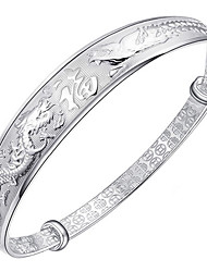 Women's Bangles Sterling Silver Fashion Classic Animal Shape Silver Jewelry 1pc