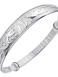 Feminino Bracelete Prata de Lei Moda Clássico Formato Animal Prata Jóias 1peça