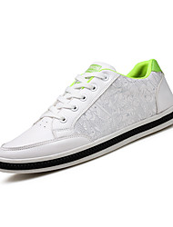 Men's Sneakers Ankle Strap PU Summer Fall Casual White/Green White/Blue Black 1in-1 3/4in