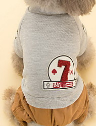 Dog Coat Dog Clothes Cute Cartoon Gray