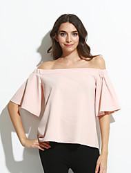 Women's Pink Off-the-shoulder Top