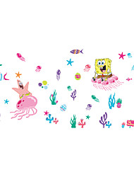 Wall Stickers Wall Decals Style Cartoon Underwater World PVC Wall Stickers