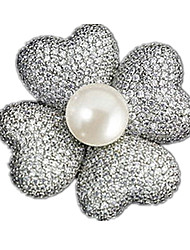 CLASSIC FAN-SHAPED ULTRA-FINE JEWELRY BROOCH BROOCH CORSAGE SCARF BUTTON WITH A LONG CHAIN
