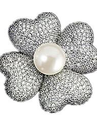 Botão clássico lenço em forma de leque ultra-fino broche broche de jóias com um corpete de cadeia longa