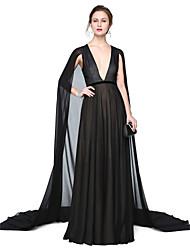 2017 TS Couture® Formal Evening Dress - Elegant A-line V-neck Floor-length Chiffon with Sash / Ribbon Pleats