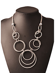 Necklace Chain Necklaces Jewelry Birthday Party Daily Casual Christmas Gifts Round Fashion Bohemia Style Rock Alloy Women 1pc Gift Silver