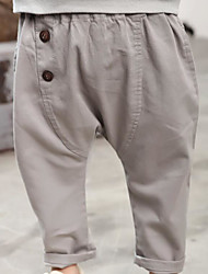 Unisex Casual/Daily School Solid Pants-Cotton Summer Spring Fall