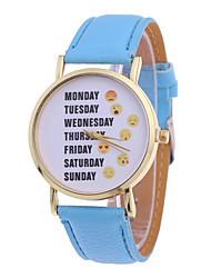 Damen Armband-Uhr Quartz PU Band Rot