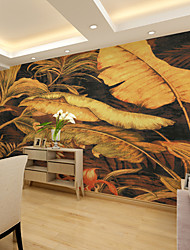 JAMMORY Wallpaper For Home Wall Covering Canvas Adhesive required Mural Large Yellow Banana Leaf XL XXL XXXL