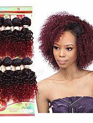 short kinky curly weaving human hair bundles 8pieces/pack brazilian hair weave bundle 8inch brazilian curly hair extensions jerry curly hair weft