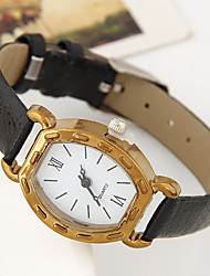 Women's Classic Fashion Vintage Wrist watch Quartz Leather Band Casual