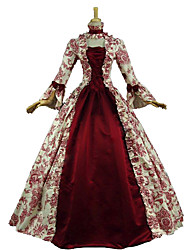 Steampunk®Renaissance Victorian Period Masquerade Princess Dress Antique Floral Christmas Caroler Costume