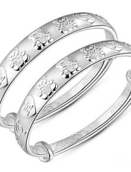 Women's Bangles Fashion Sterling Silver Animal Shape Silver Jewelry For Birthday Gift 1pc