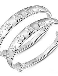Feminino Bracelete Moda Prata de Lei Formato Animal Prata Jóias Para Aniversário 1peça