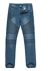 Hommes Slim Jeans Pantalon,simple Décontracté / Quotidien Couleur Pleine Taille Basse fermeture Éclair Coton Micro-élastiqueToutes les