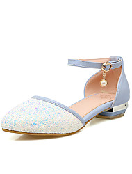 Sandals Spring Summer Fall Other PU Outdoor Office & Career Casual Low Heel Others Blue Pink White