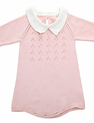 Baby Girl/Girl's Versatile Long-Sleeve Knitted Dress/Bodysuit