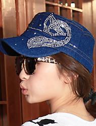 Mujer Gorra de Béisbol Sombrero para el sol Bonito Fiesta Casual-Primavera Verano Otoño Invierno Todas las Temporadas-Tela Vaquera