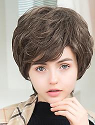 nova chegada de ondas curtas naturais perucas de cabelo humano sem capa