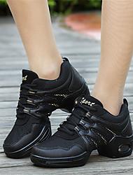 Для женщин-Ткань-Не персонализируемая(Черный) -Танцевальные кроссовки