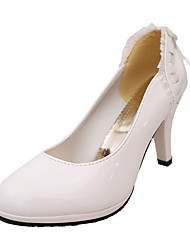 Mujer Tacones Confort botas slouch PU Primavera Verano Otoño Casual Confort botas slouch Tacón Bajo Blanco Negro Rosa 2'5 - 4'5 cms