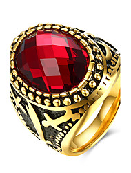 Ringe Kubikzirkonia Normal Schmuck Stahl Herren Ring 1 Stück,9 10 11 Goldfarben