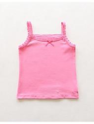 Mädchen Tank Top & Leibchen Lässig/Alltäglich einfarbig Baumwolle Sommer