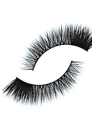 Eyelashes lash Full Strip Lashes Eyes Crisscross The End Is Longer Handmade Animal wool eyelash Black Band 0.25mm 9mm