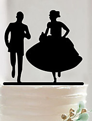 Couples acrylic wedding cake inserted card Elegant cake decoration birthday cake