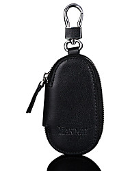 Casual Zipper Key Holder Genuine Leather Unisex Car Key Bag Key Chains