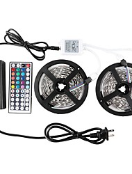 KWB 2*5M-3528-600-RGB  44Keys 1to2  6A Power Supply LED Strip Lights Kit Non-waterproof