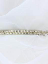 Satin Wedding Party/ Evening Dailywear Sash-Beading Rhinestone Imitation Pearl Women's 98 ½in(250cm) Beading Rhinestone Imitation Pearl