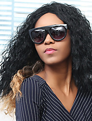Long Side Parting Curly Shaggy Double Color Synthetic Wig